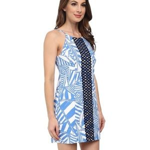 Lilly Pulitzer Bay Blue Yacht Sea Annabelle Dress
